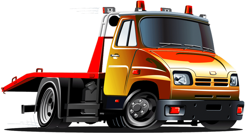 Cutout Towtruck Red